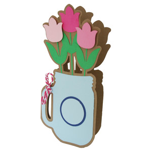 mason jar tulip card