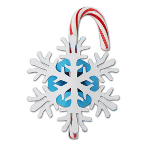snowflake candy cane