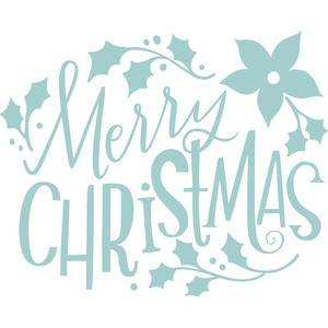 merry christmas with ivy handlettering