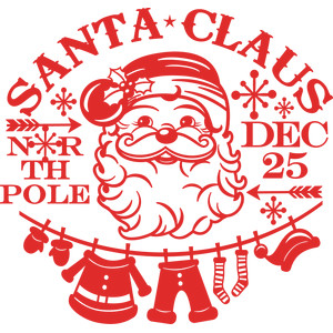 santa claus word art