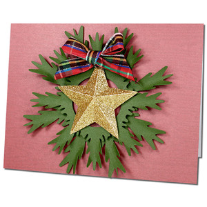 3d star wreath card