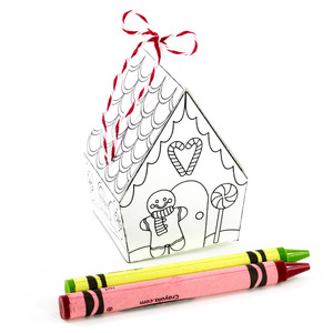 gingerbread man house coloring ornament