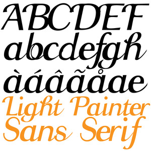 zp light painter sans serif