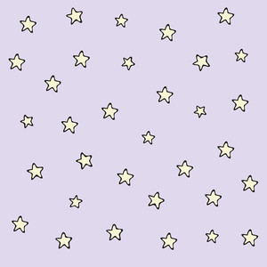 doodled star pattern