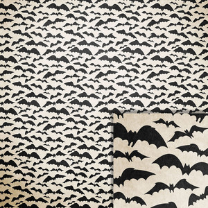 halloween bats background paper