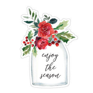 enjoy the season flower jar