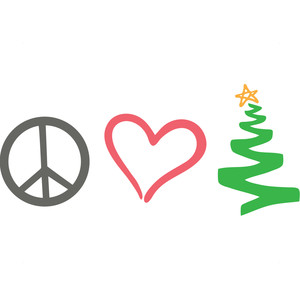 peace, love, christmas