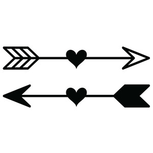 heart arrows set