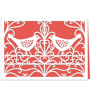 bird lace card
