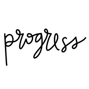 progress word art