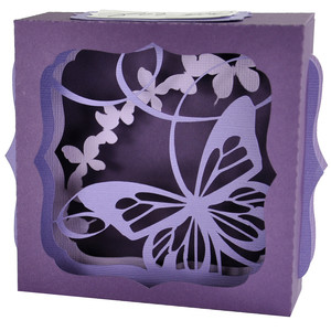 flutter butterfly gift card box
