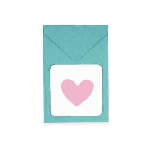 heart gift card envelope