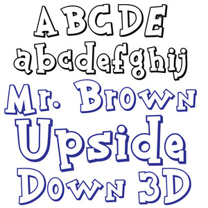 zp mr. brown upside down 3d