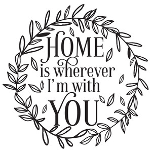 home is wherever i'm with you wreath