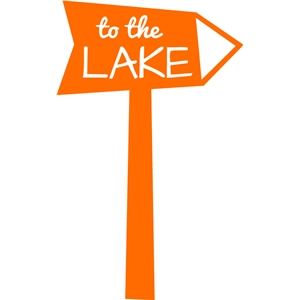 to the lake sign