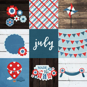 4x4 patriotic elements background paper