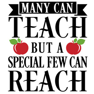 many teach special few reach