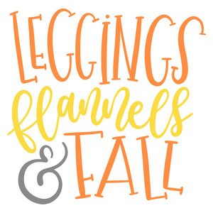 leggings flannels fall