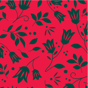 ditsy floral christmas pattern
