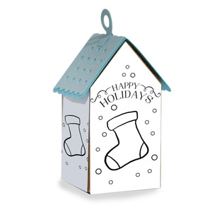 ml coloring house ornament - stocking