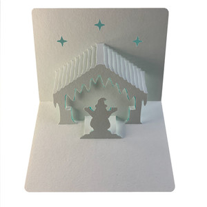 santa's grotto popup card