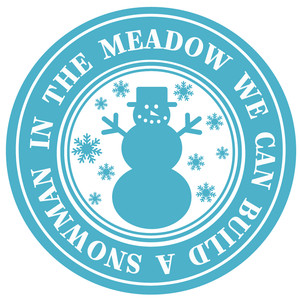 in meadow build a snowman label