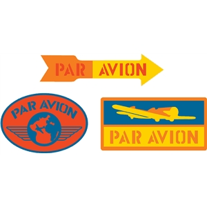 par avion labels