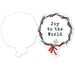 joy to the world wreath folded card