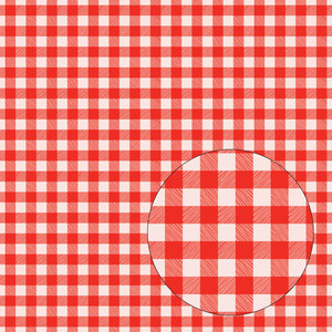 pink & red buffalo plaid seamless pattern