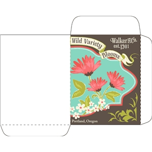 antique wild blooms seed packet