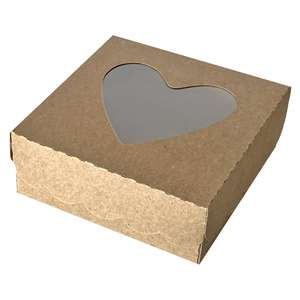 heart window cookie box with scallop edge