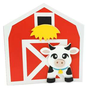 cow and barn card