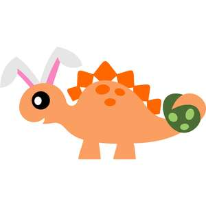 stegosaurus bunny ears and easter egg