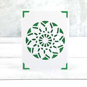 insert card tuck fold circle