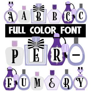 perfumery color font