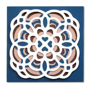 layered middle eastern tile card
