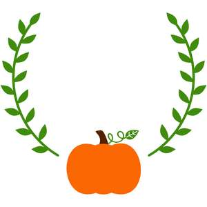 laurel pumpkin monogram frame