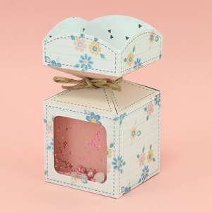 vertical candy box with window - rounded