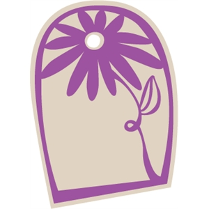 Flower Gift Tag - Rounded