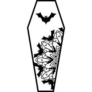 bat mandala coffin