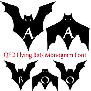 qfd flying bats monogram font