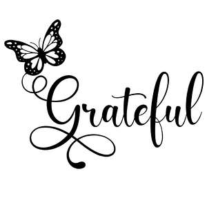 grateful butterfly word