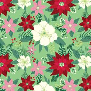 holiday floral pattern
