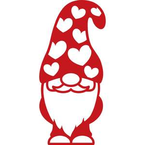 gnome with hat hearts