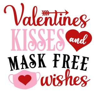 valentines kisses mask free wishes