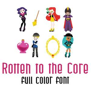 rotten to the core full color font