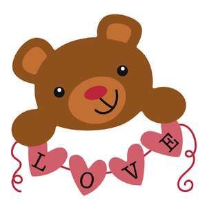 teddy with love banner