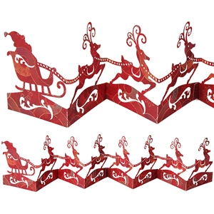 accordion fold reindeer scene
