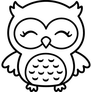 owl girl outline