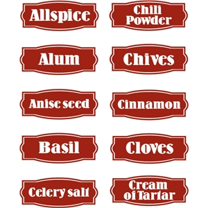 spice label set